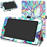 """Nook Tablet 7 2016 Case,Mama Mouth PU Leather Folio 2-Folding Stand Cover for 7"""" Barnes & Noble Nook 7 BNTV450 Andriod Tablet 2016,Love Tree"""