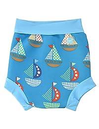 Splash About Baby Neoprene Swim Diaper - Reusable Swim (Medium 3-8 Months, Set Sail Print)