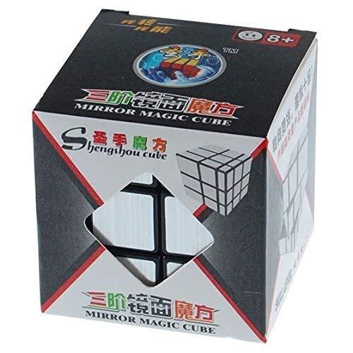 Shengshou Bloques Espejo Dibujo Plata Espejo en Forma de Cubo con Forma de Cubo deforma