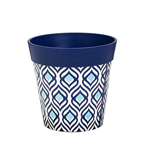 Wall Pockets Blue Peel - New Creative Blue Peacock 8-inch Outdoor Safe HUM Flowerpot Planter