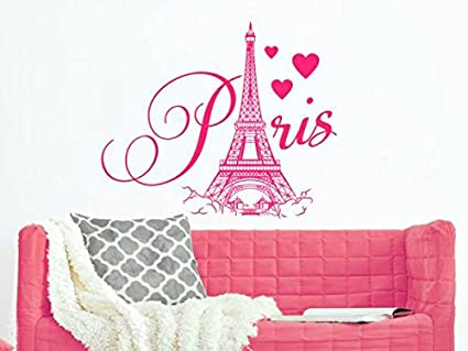 Amazon.com: Paris Eiffel Tower Wall Decal City Theme France ...