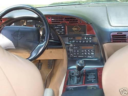 - CHEVROLET CHEVY CORVETTE C-4 C4 C 4 INTERIOR BURL WOOD DASH TRIM KIT SET 1994 1995 1996