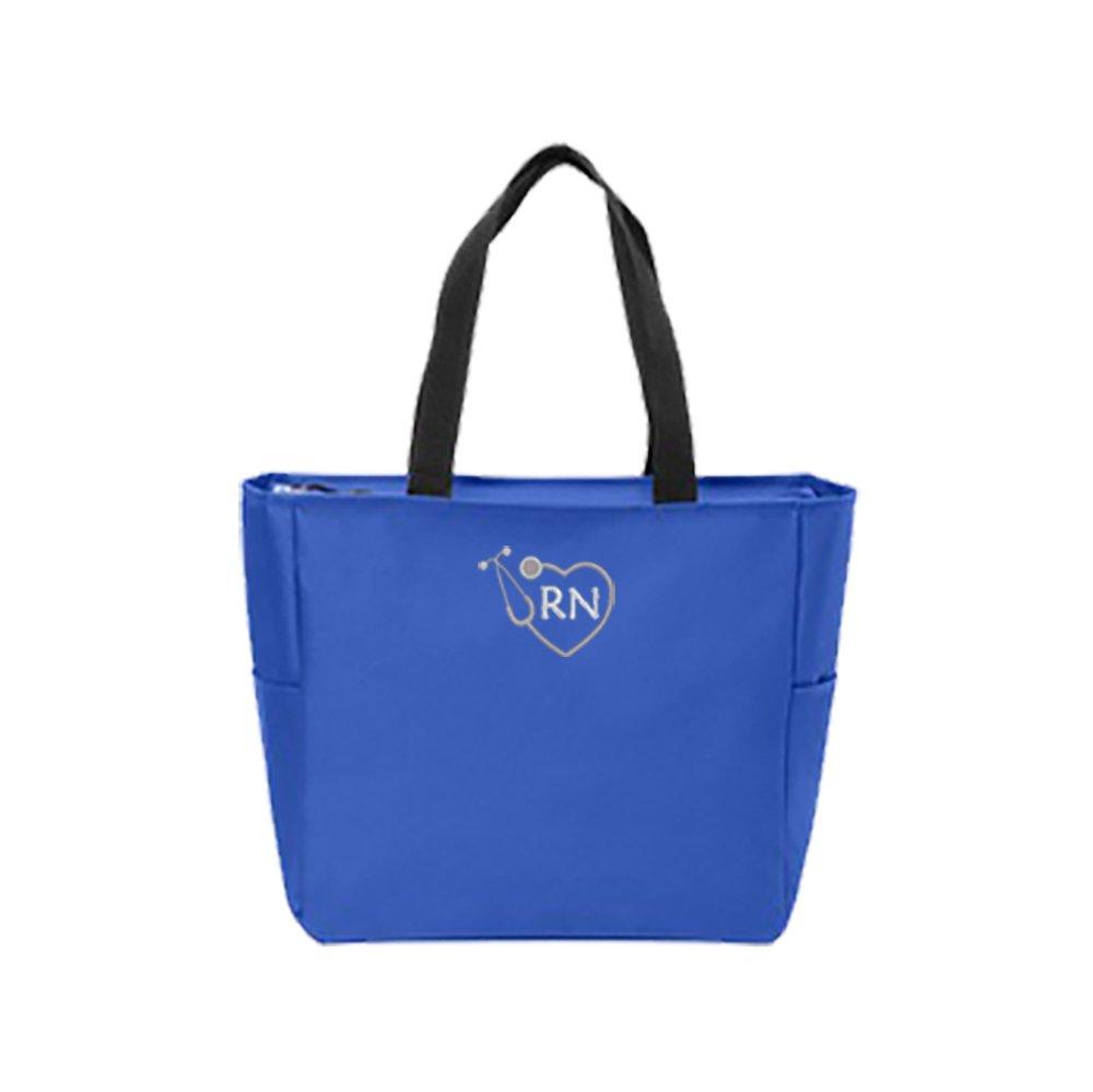 RN Nurse Tote Bag | Gift for Nurse (Royal)