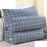 cushion lead pillow bedside back cushion back triangle pillow sofa office pillow floating window waist pillow and a waist waist pillow-K 45x22x50cm(18x9x20inch)