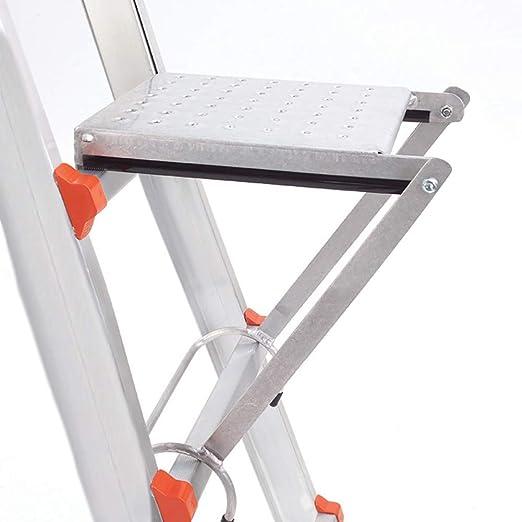 SRFDD Sistema de Plataforma de Trabajo de Escalera, Accesorios Antideslizantes para Soporte de Escalera de Escalera de Servicio Pesado soportan 120 kg, Ideal para latas de Pintura o pies: Amazon.es: Hogar