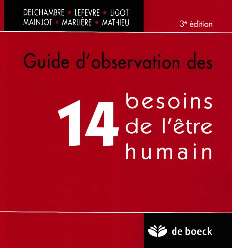 Guide d'observation des 14 besoins de l'être humain