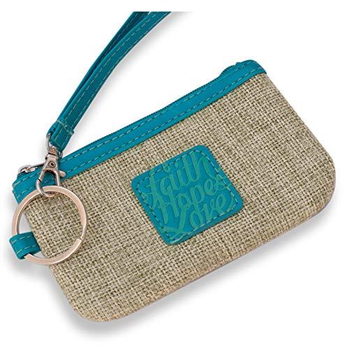 Bellerina Christian Gifts for Women Coin Purse Faith Hope Love Credit Card Case