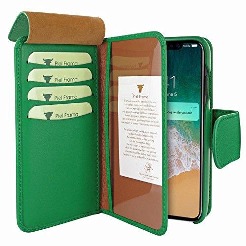 Piel Frama U793DG Case ''WalletMagnum'' for iPhone X - Green by Piel Frama (Image #2)