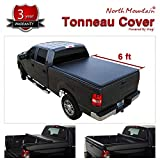 VioletLisa 1pc Black Vinyl Clamp On Soft Lock & Roll-up Top Mount Tonneau Cover Assembly w/Rails+Mounting Hardware for 04-14 Chevy Colorado/GMC Canyon Pickup 6ft Bed