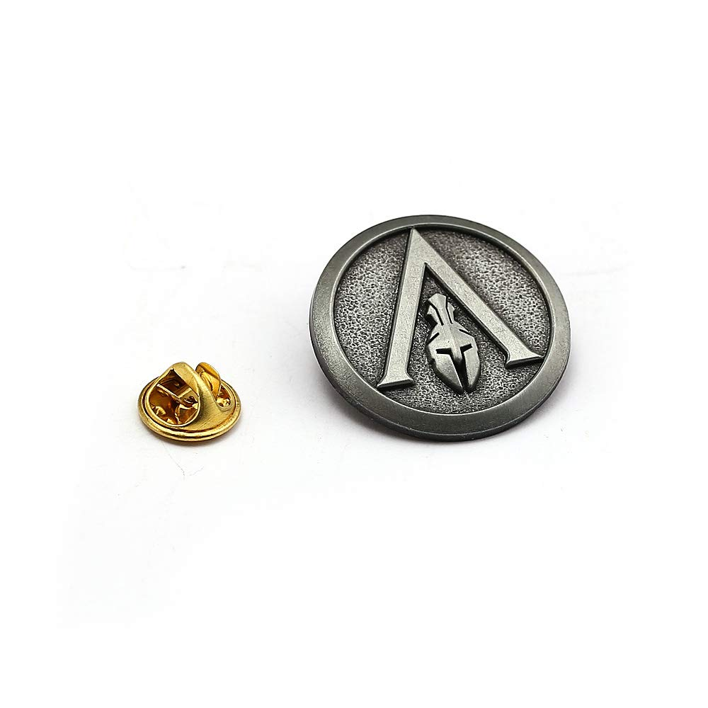 Mct12 - Assassins Creed Brooch Pins New Game Odyssey Antique Silver Brooches Badges Fashion Men Women Jewelry Collection