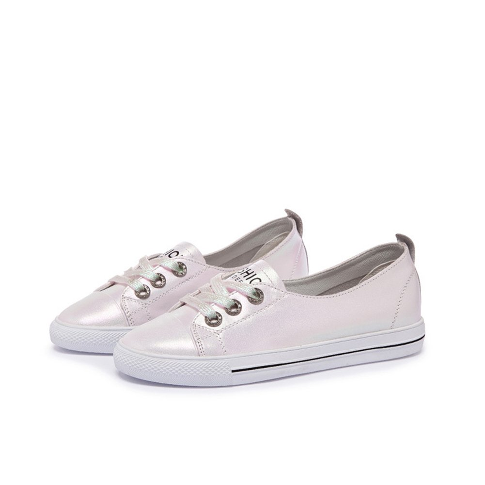Zapatos Ocasionales de Las Mujeres 2018 New Spring, Summer, Fall Lazy Shoes Zapatos Planos Elásticos Ocasionales Redondos Flat Shallow Mouth (Color : Rosado, Tamaño : 34) 34|Rosado