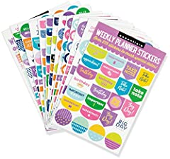 Personalize your agenda and stay extra-organized with this set of hundreds of stylish planner stickers!Keep track of all your appointments, special days, dates, vacations, and celebrations.Selections include multiples of ''Birthday,'' ''Appoi...