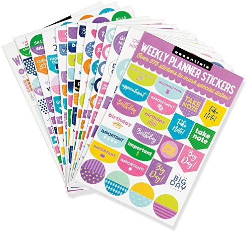 Essentials Weekly Planner Stickers (Set of 575 Stickers) -