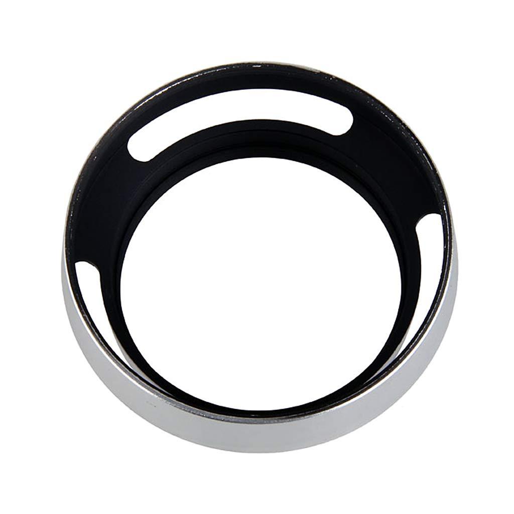 Parasol de aluminio para lente oblicuo de 55 mm para cámara réflex ...