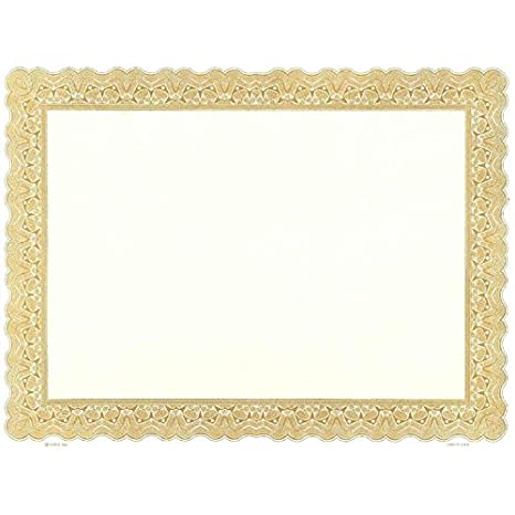 photograph relating to Printable Certificate Paper identified as : Goes 745 Printable Blank Certification - Pack of