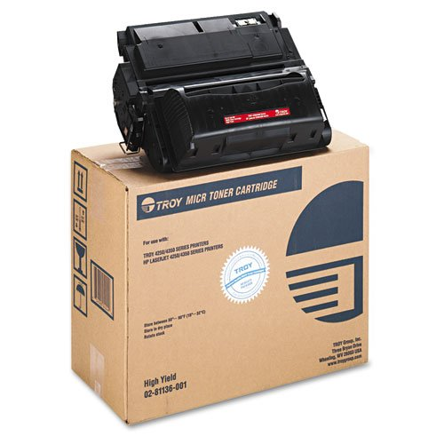 TRS0281136001 - Troy Remanufactured MICR Toner Secure Cartridge Alternative For HP 42X (Q5942X)