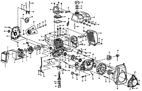 honda gxh50 parts diagram