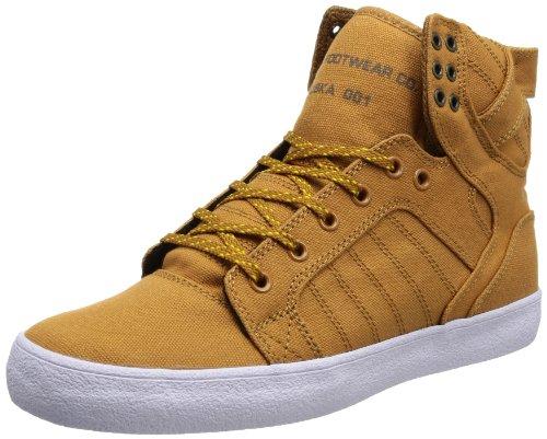 Supra Chad Muska Skytop Skate Shoe - Men's Golden Oak/Pumpkin/White, 11.0 (Oak Shoe Skateboard)