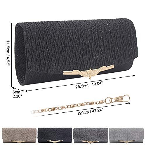 Party Evening Wedding Wocharm Apricot Clutches Elegant Handbag Glitter Box Womens Clutch ERwR5qta