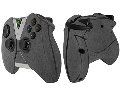 Skinomi TechSkin - NVIDIA Shield Controller Brushed Steel Full Body Skin Protector / Front & Back Wrap / Premium HD Clear Film / Ultra Invisible and Anti-Bubble Shield