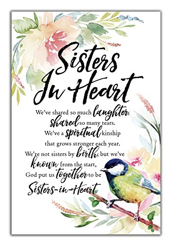 Sisters In Heart Woodland Grace Series 6″ x 9″ Wood Plaque with Easel