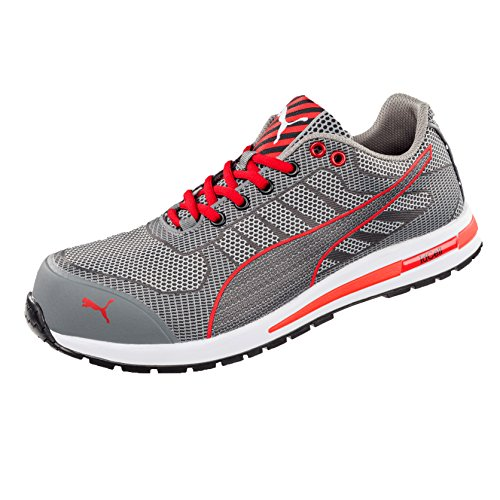 Puma Safety Xelerate Knit Low 643070 S1P HRO SRC, Grey, 11 AU