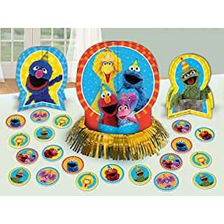 amscan 281672 Table Decorating Kit Sesame Street Collection 1 Pack (23 pcs) Party Accessory, Multicolor, One Size