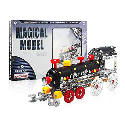 IRON COMMANDER DIY Metal Model Erector Set Building Set, STEM Education Toy for Ages 8 and Up (Locomotive)