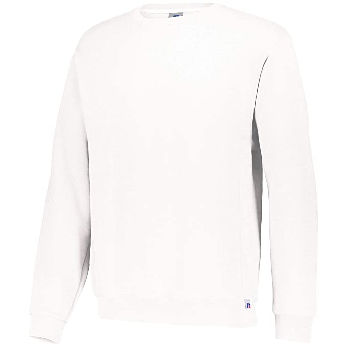 3bb68aa6a Image Unavailable. Image not available for. Colour: Augusta Sportswear Dri-Power  Fleece Crew Sweatshirt, White ...