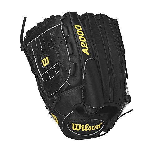 Wilson A2000 ASO Pitcher Baseball Glove, Black, Left Hand Throw, 12-Inch (Glove Baseball 12' Leather)