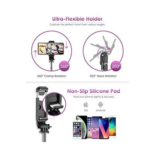 ELEGIANT Bastone Selfie Wireless, 4 in 1 Asta Selfie Stick Bluetooth con Treppiede per Camera Gopro 3,7-6,8 Pollici Cellulare iPhone 11 XS Max XR x 8s Samsung Galaxy S20 s10 s8 Huawei P30 P20 PRO 6 spesavip