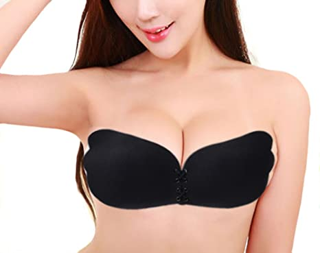 d71bd1e6b WEICHENS Plus Size Self Adhesive Silicone Women Push Up Bra Backless ...