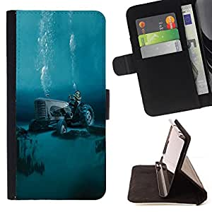 Jordan Colourful Shop - tractor global warming diving For Sony Xperia M2 - Leather Case Absorci???¡¯???€????€?????????&Ati