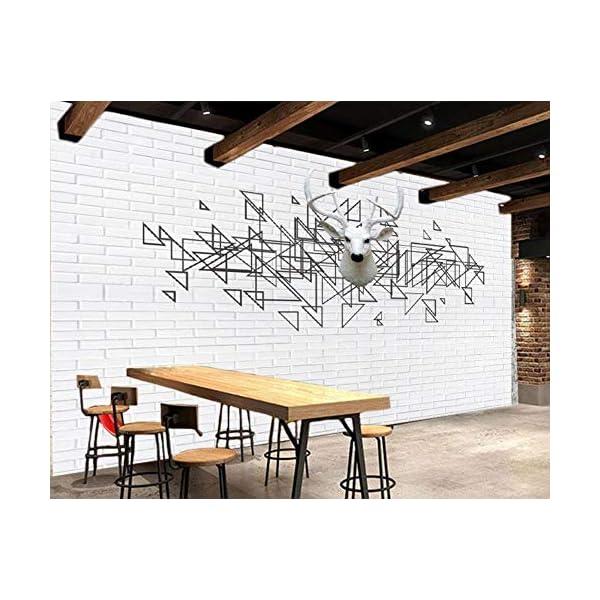 LIWALLPAPER-Carta-Da-Parati-3D-Fotomurali-Alce-Bianco-Muro-Di-Mattoni-Nero-Geometrico-Camera-da-Letto-Decorazione-da-Muro-XXL-Poster-Design-Carta-per-pareti-200cmx140cm