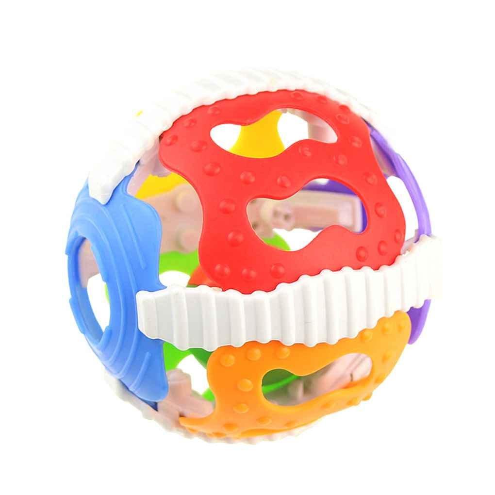 Aiming Baby-Geklapper spielt wenig Laute Glocke Ball Spielzeug Neugeborenes Aktivität Grasping Spielzeug Handglocken Ring Griff Spielzeug