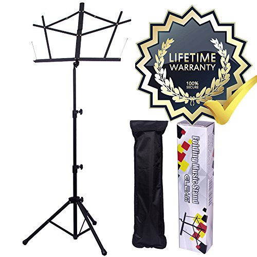 (GLEAM Music Stand Bold Pipe Folding Music Holder with Carrying)