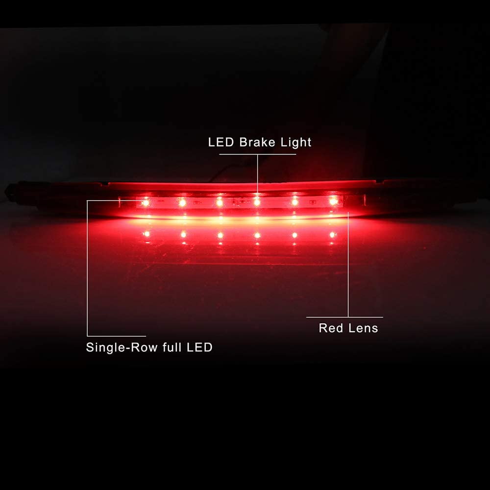 LED 3rd Brake Lights Cargo Lamp Assembly Automotive Tail Lights Red Lens Fit for 2002-2012 Chevrolet Avalanche Replace 15120540 1228-0126 923-264