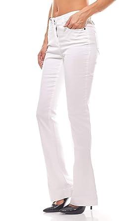 B.C. Best Connections Boot Cut Kurzgröße Flared Jeans Slim Fit Schlaghose  in Weiß, Größenauswahl  50f252cfec