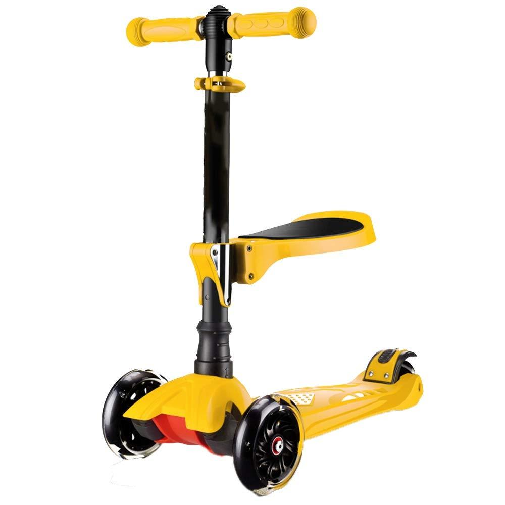 YUMEIGE 利用可能 キックボード本体 キックスクーター通勤都市スクータースクーター男の子女の子1-6歳の誕生日プレゼント滑らかで速い乗車 利用可能 (色 : : 黄) 黄 B07R9NMKBT B07R9NMKBT, 1st-priority:2d5a95e1 --- 92.222.216.21