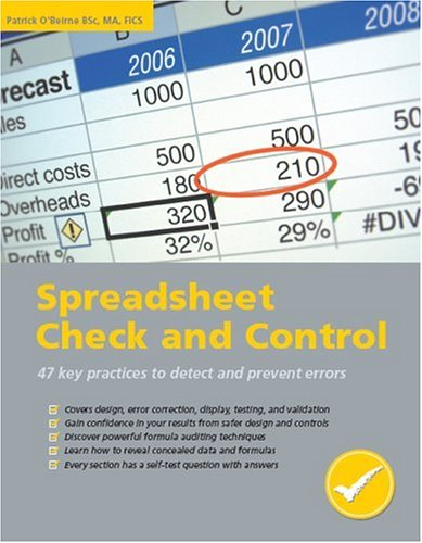 Download Spreadsheet Check and Control pdf