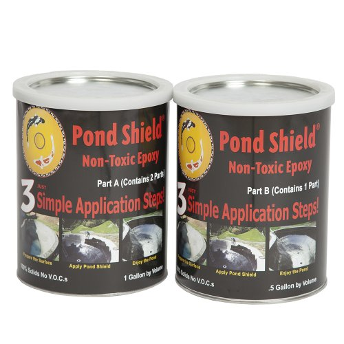 Pond Armor SKU-BLACK-GA Non-Toxic Pond Shield Epoxy Paint, 1.5-Gallon, (Shield Pool Paint)