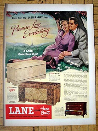 1949 Lane Cedar Hope Chest- Easter Gift $59.95 -Original 13.5 * 10.5 Magazine Ad