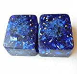 Blue Ultramarine 2 Mini Cube Tower Busters Crystal Orgone Generator Energy Accumulator 528Hz/7.83Hz/Advance Harmonics Many Beautiful Ingredients and Colors!! (Blue Ultramarine)