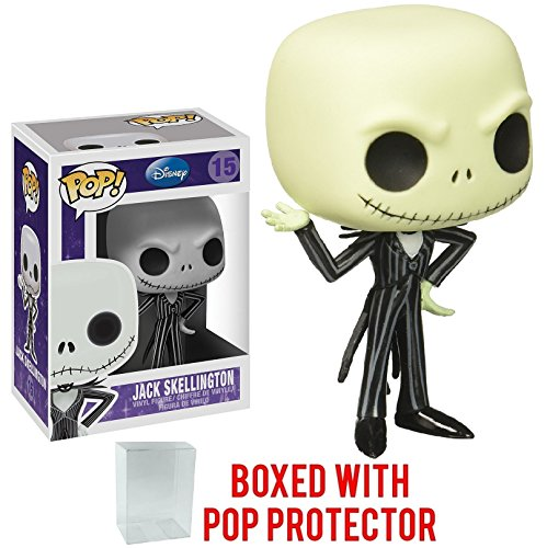 Funko Pop! Disney: The Nightmare Before Christmas - Jack Skellington Vinyl Figure (Bundled with Pop Box Protector Case)