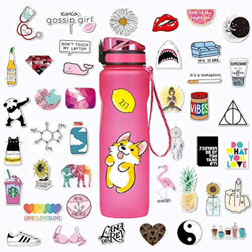 Stickers for Water Bottles Big 46 Pack Cute,Waterproof,Aesthetic,Fashion Stickers for Teens,Girls Perfect for Water Bottles,Laptop,Phone,Travel Extra Durable  Vinyl