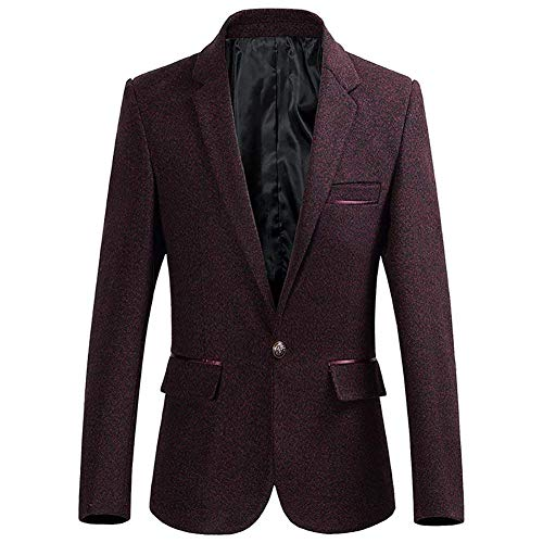 Tweed Ropa Algodón Para Lannister Boda Smoking Chaquetas Formal Fashion Mens Coat Fit Smart Slim Autumn Winered Hombre Chaqueta Traje A Blazer Dinner De OOFtwq