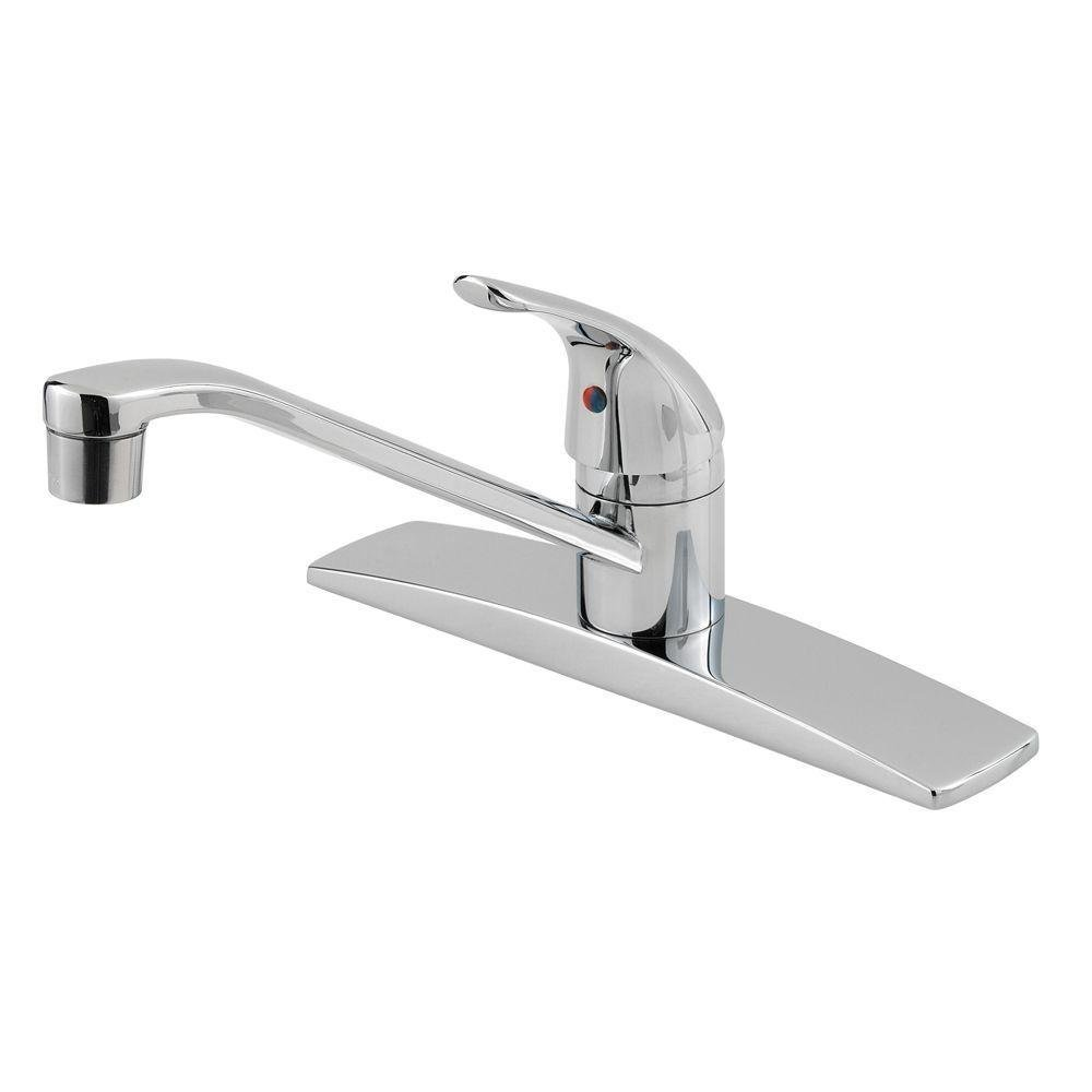 Pfister 134-1444 Pfirst Series Single Handle 3-Hole Kitchen Faucet ...