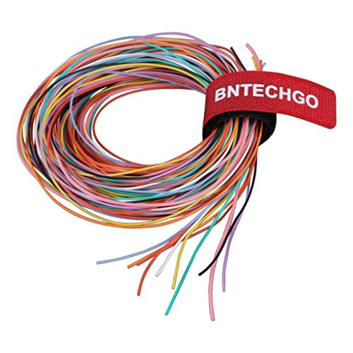 BNTECHGO 30 Gauge Silicone Wire Kit Ultra Flexible 10 Color High Resistant 200 deg C 600V Silicone Rubber Insulation 30 AWG Silicone Wire 11 Strands of Tinned Copper Wire Stranded Wire Battery Cable