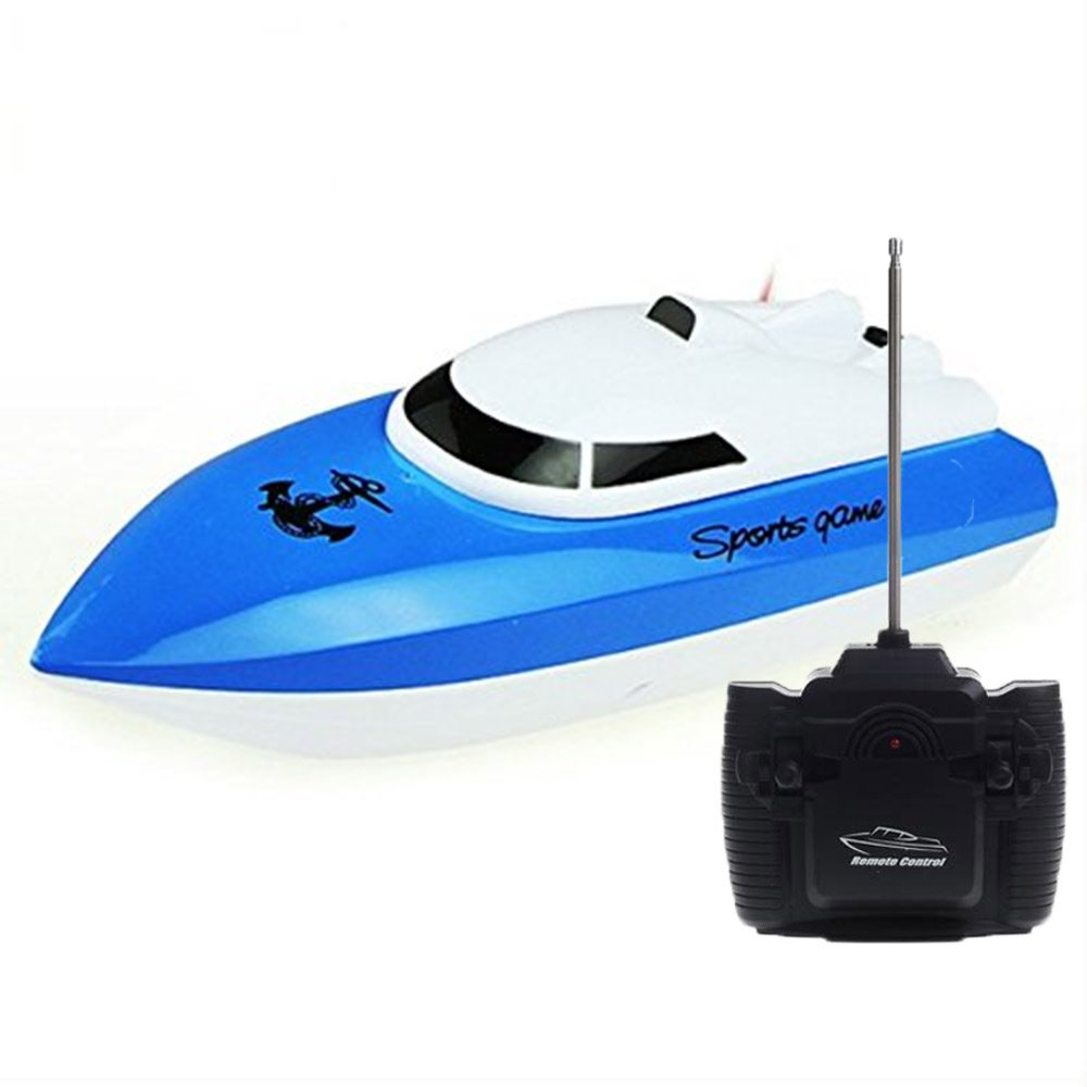 SZJJX RC Boat Remote Control Racing Boat High Speed Electric 4 Channels for Pools, Lakes and Outdoor Adventure JX802 Blue