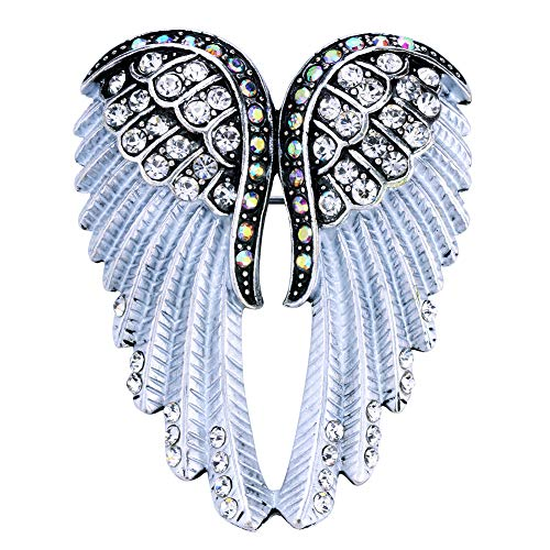 Hiddlston Crystal Guardian Angel Wing Jewelry Custom Brooch Pins For Women